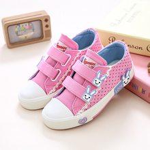 ילדים חדשים נעלי בנות אופנה ילדי נעלי בד פרחוני חמוד קשת מודפס ילדים סניקרס לנשימה תינוק בנות נעליים(China)