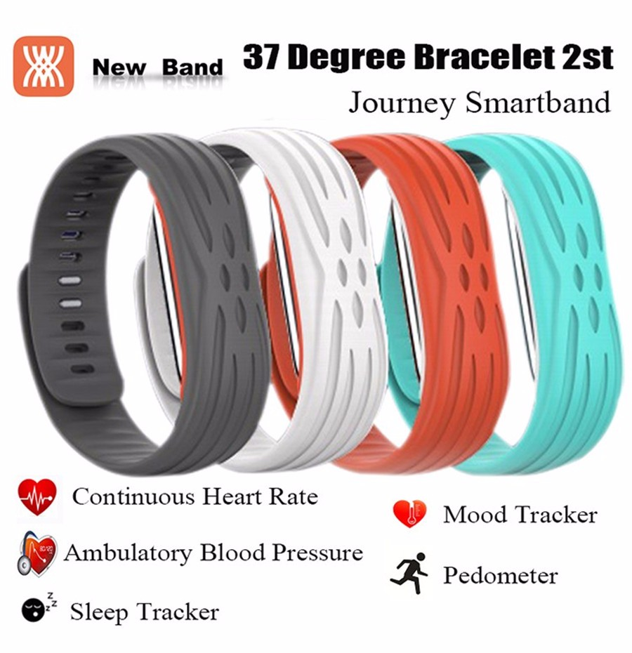 37 Degree 2nd Journey Bluetooth Heart Rate Pedometer Blood Pressure Fitness Tracker waterproof Sport Smart band Bracelet Ring(China (Mainland))