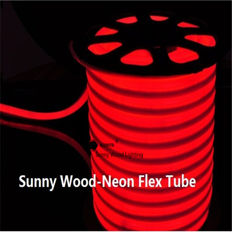 10 meters led neon flex tube ,220V input led sign board tube ,Flexible tube red color with power cord and clips LNF-2514-220V(China (Mainland))