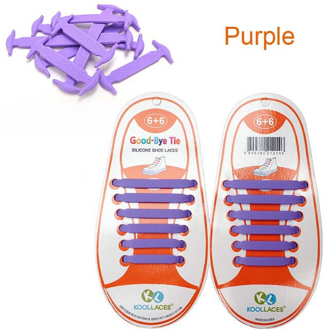 Coolnice No Tie Silicone Rubber Elastic Shoelace Sneaker Shoe Laces Running Shoelace Easy Shoelaces For Kids X 5 Sets Wholesale(China (Mainland))
