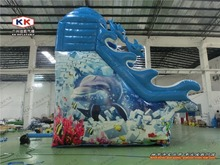Wave Floating Inflatable Water Slide With Bonnie Eear Jungle Theme Commercial Sale(China (Mainland))