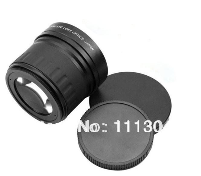 Объектив для фотокамеры Oem 58mm 0.21 X Fisheye + Nikon d90 d7000 600D 550D 500D 60D 1100D DSLR Canon Telephoto Lens