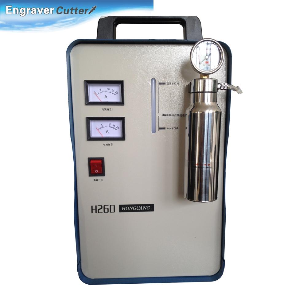 800W Portable Oxygen Hydrogen Flame Generator Acrylic Polishing Machine, 150L 2 Gas Torches free, 110V(China (Mainland))