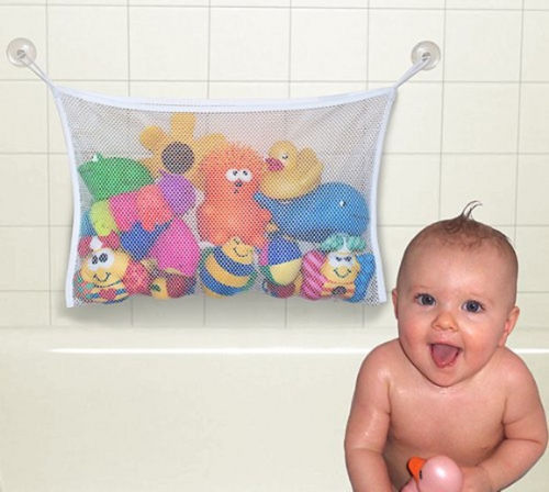 Organizador Juguetes Baño:Bath Toy Mesh Storage Bag