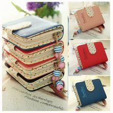 Fashion Girl Purse 6 Colors Choice Polka Dots Leather Zipper Wallet Multiple Cards Holder Wallet PB9065