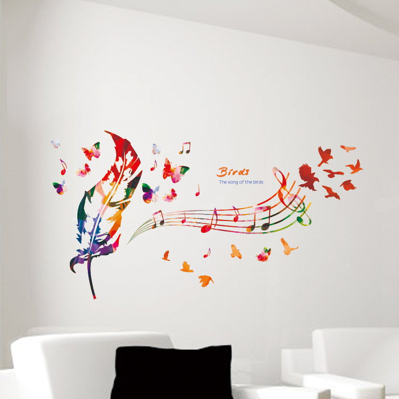 Online get cheap music notes song for Cheap wall mural posters
