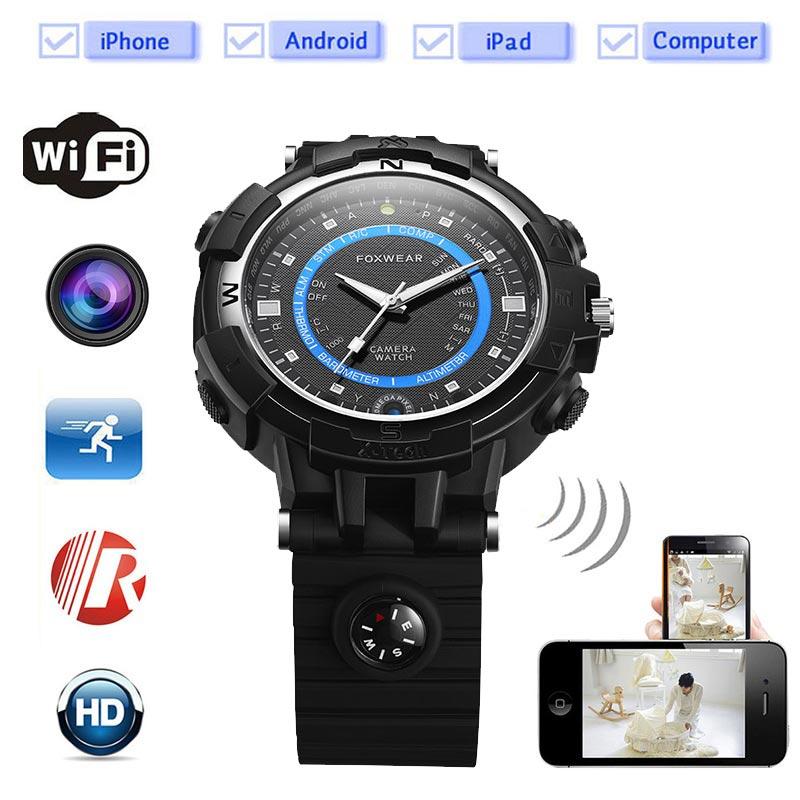 2017 Sport Camera Wifi watch Mini P2P WiFi IP Camera Pocket Mini DVR WIFI Watch Built 8G Bicycle Video Recorder wifi Watch Fox8(China (Mainland))