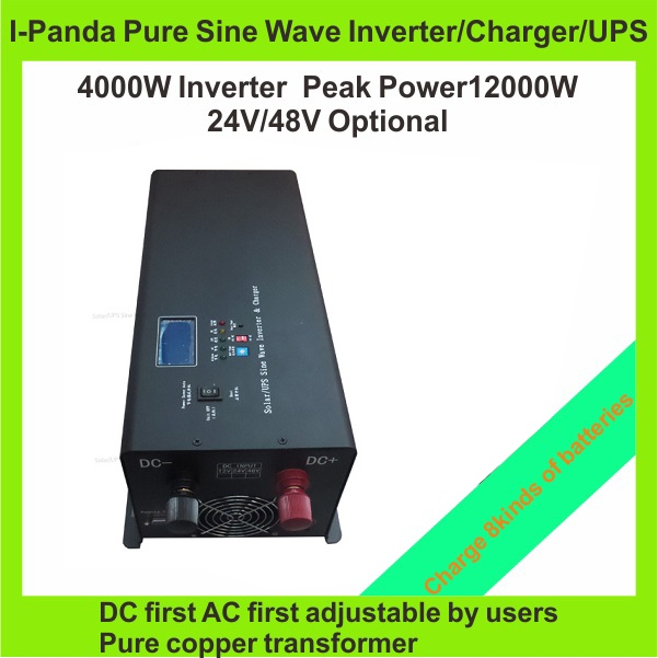 Homeuse inverter 4000W Pump inverter Air conditioner fridge power inverter charger UPS with LCD RS232(China (Mainland))
