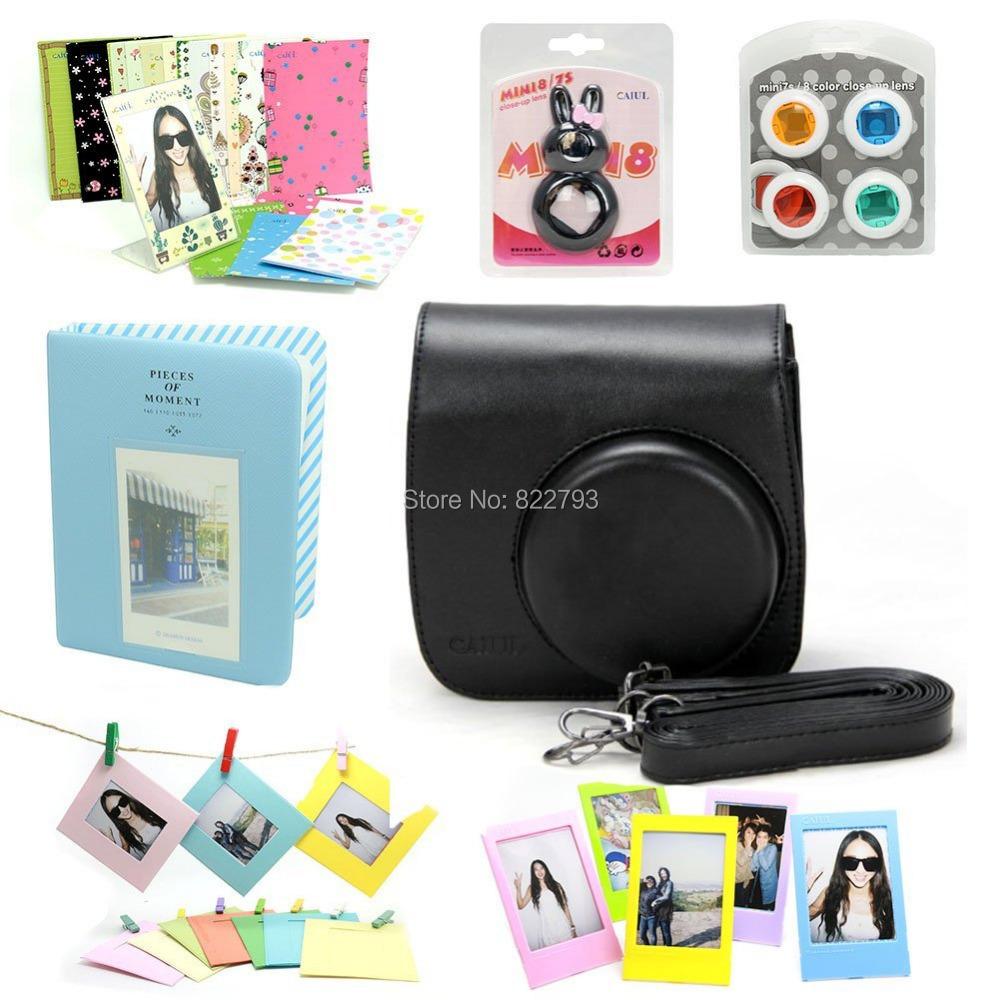 Black -- Fujifilm Instax Mini 8 Instant Camera Accessory Bundles Set - Fashion gift accessories store