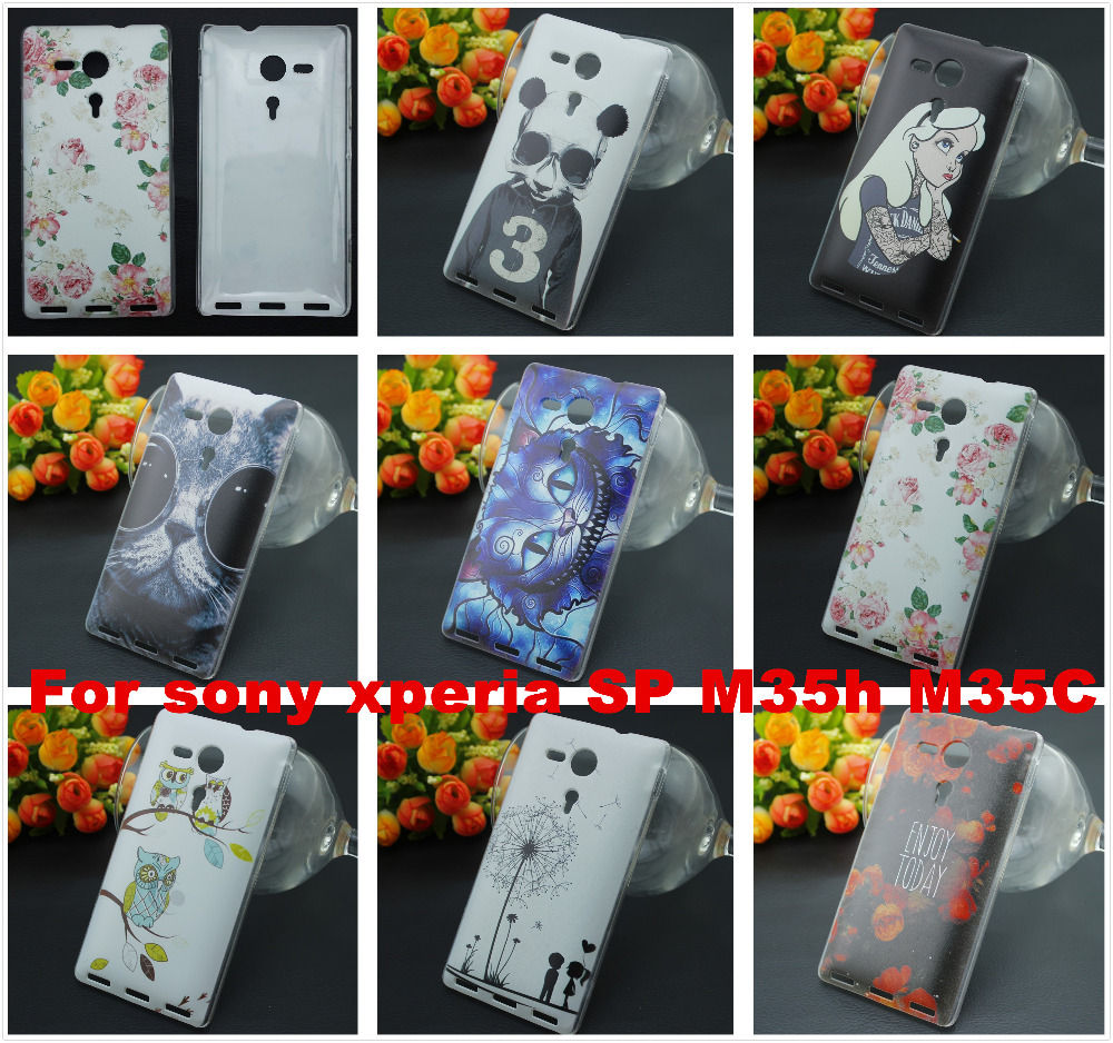 For sony xperia SP fundas . women men PC Hard Back Cover Case For sony xperia SP M35h M35C C5303 Phone Cases 2015 new(China (Mainland))