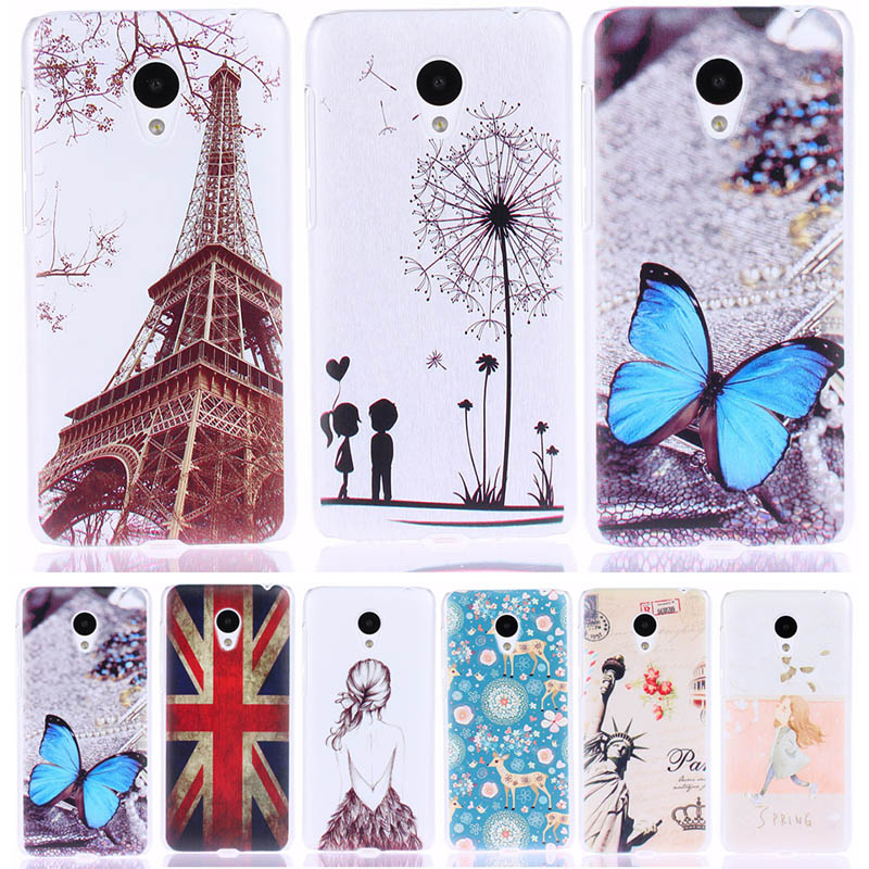 "Hot Sale! Fashion PC Hard Plastic Back Cover Cases For Meizu M2 mini Meilan 2 5.0"" Painting Cute Cartoon Pattern Phone Case(China (Mainland))"