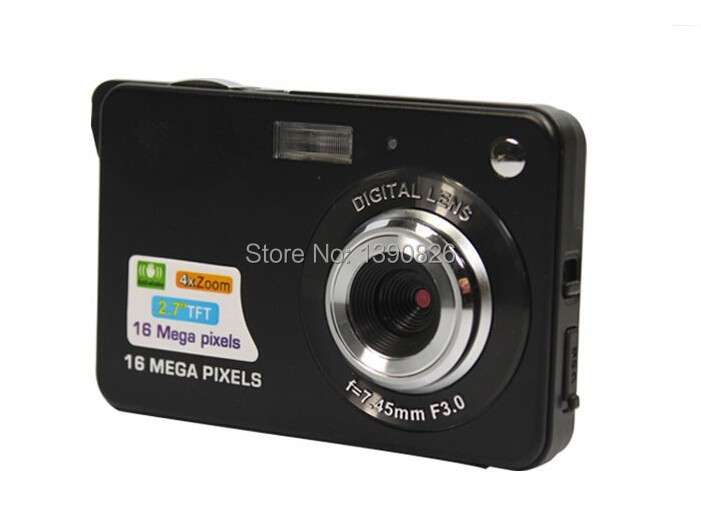 Newest 18Mp Max 3Mp CMOS Sensor Digital Cameras with 4x Digital Zoom and Rechareable Lithium Battery, Free Shipping(China (Mainland))