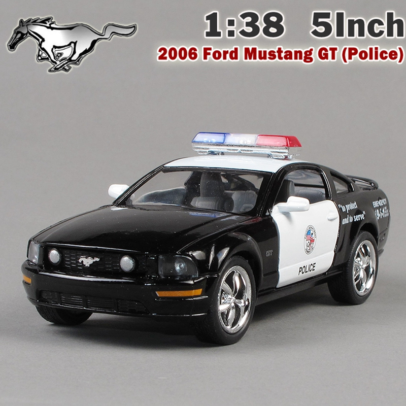 Brand New Ford 2006 Mustang GT Police Car Alloy Diecast Model Car Vehicle Toy Collection As Gift For Boy Children(China (Mainland))