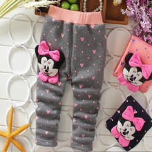new2015 spring autumn baby girls winter leggings children outerwear thick pants leisure kids warm velvet girl christmas legging(China (Mainland))