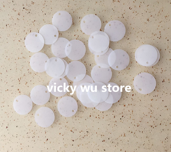 300PCS Matting White Transparent with dull polish Color 13mm flat round loose Sequins with side hole &Paillette Sewing for craft(China (Mainland))