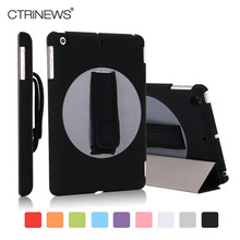 CTRINEWS 360 Degree Rotating Case For Apple iPad Mini 2 3 PU Leather Cover for iPad mini Case Tablet Handheld Protective Skin(China (Mainland))
