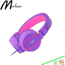 Headphones with Microphone, Kids On-ear Foldable Headsets for iPhone/Sumsung/Xiaomi/Huawei/Laptop/Computer Mp3/4 Players Purple
