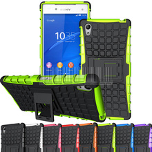 Buy Dual Layer TPU+PC Rugged Armor Heavy Duty Shock Proof Protective Hybrid Armor Kickstand Hard Case Cover Sony Xperia Z5 for $2.59 in AliExpress store