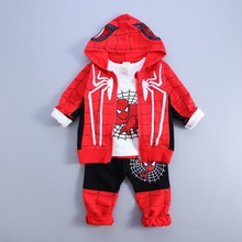 Buy Newest Spring autumn Baby Boys clothes set Spider Man Suits Infant Clothing Set Kids coat+T Shirt+Pants 3Pcs Sets Children Suits for $17.30 in AliExpress store