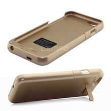 "3200mAh External Battery Backup Pack Power Bank Charger Stand Case Back Cover For iPhone 6 4.7"" High Quality Luxury Gold 2015(China (Mainland))"
