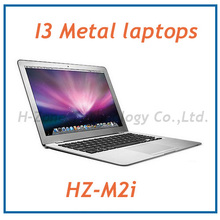 New Arrival 13.3 Inch Core i3 laptop with Aluminium alloy metal case i3-3217U Dual core 1.8Ghz 2GB RAM&250GB HDD