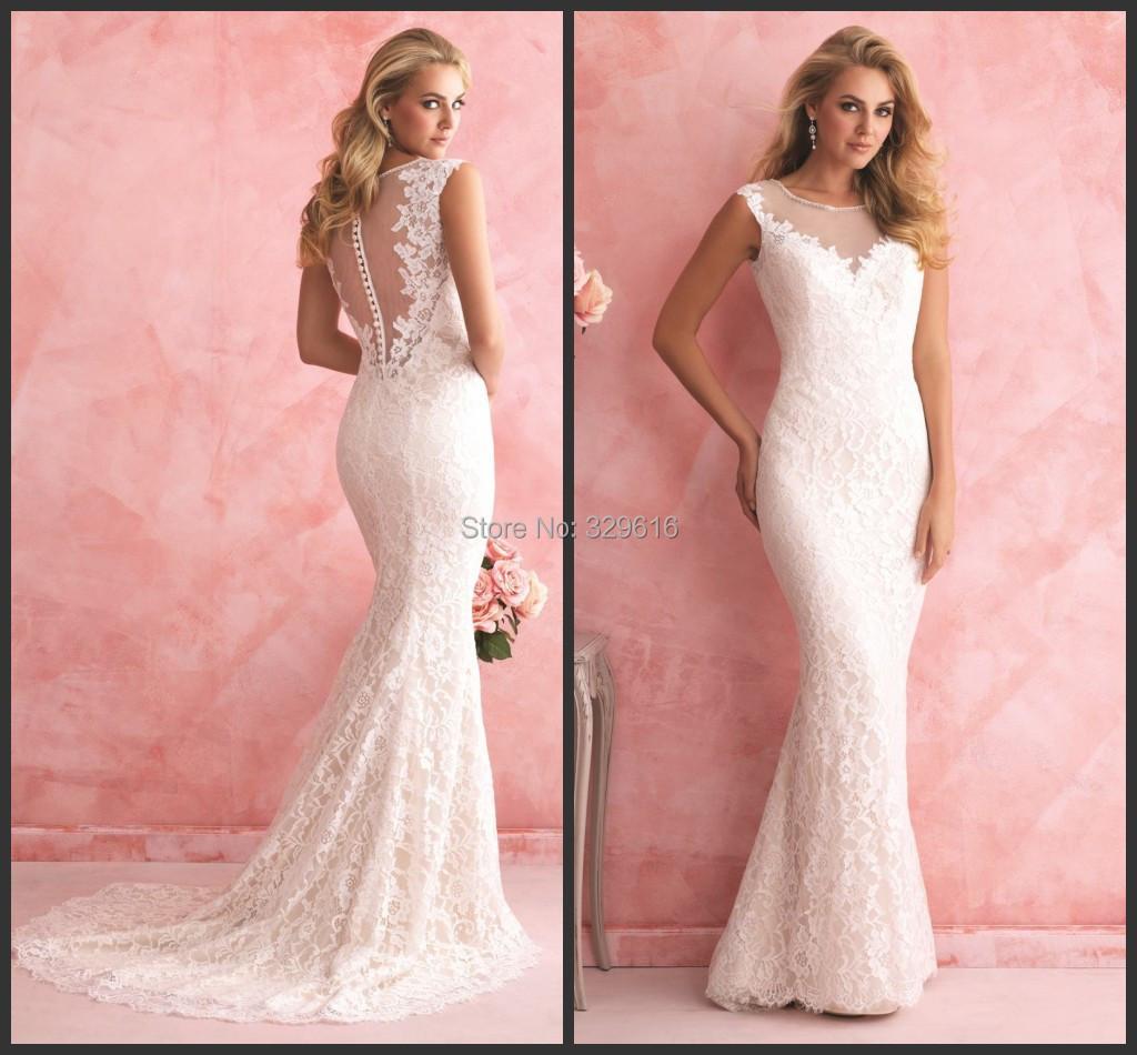 Aliexpress Buy 2015 Lace Mermaid Wedding Dress Cheap