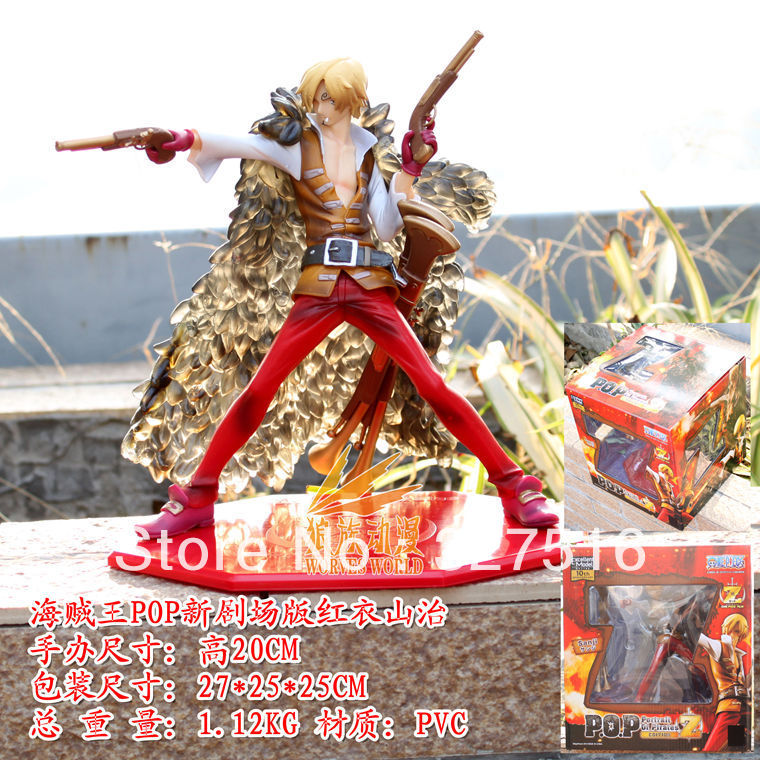 Free shipping Japan Anime One Piece POP PVC action figure toys, Super huge red battle suit Sanji model doll toys,Birthday Gift(China (Mainland))