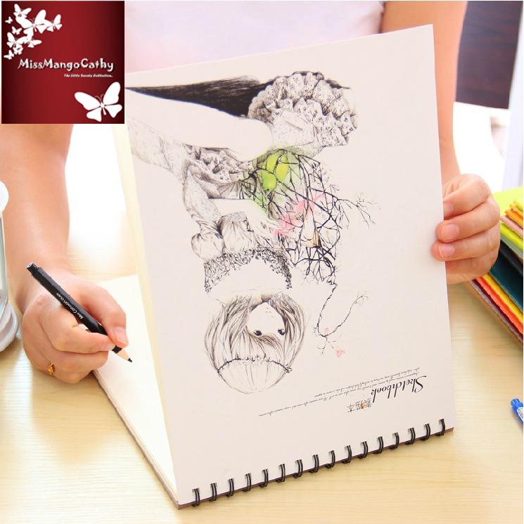 Long Hair Big Blank Diary Sketchbook Workbook Planner Journal School Student Art Notebook Modern Agenda Notepad Memo Gift<br><br>Aliexpress