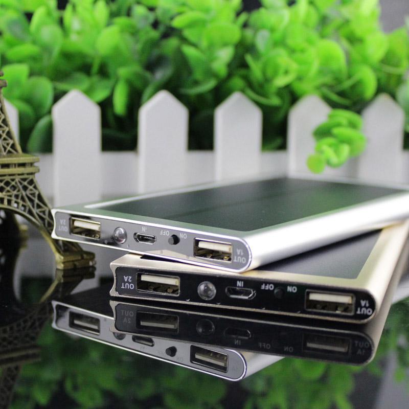 NEW Brand 12000mAh Portable solar power bank Brand Powerbank backup Power Supply battery Power charger Christmas gift(China (Mainland))