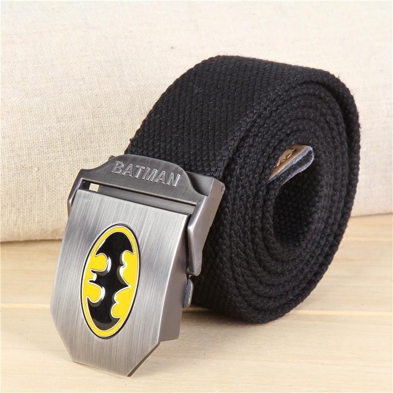 2016 Hot Batman Men Canvas Belt Outdoor Military Equipment Cinturon Strap Mens jeans belt Luxury For Men Tactical Brand Cintos(China (Mainland))