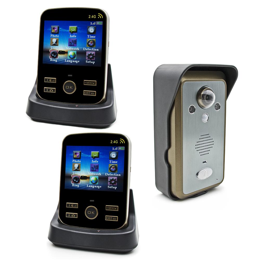 Гаджет  NEWEST KDB302 2.4G Wireless Intercom 3.5 Inch Video Door Phone Dooebell Dual Audio Remote Unlocking Multi Languages None Безопасность и защита