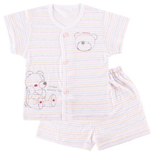 Baby Cardigan Short-sleeved Summer Shorts and Thin Underwear Suits Babies Clothes Baby Pajamas(China (Mainland))
