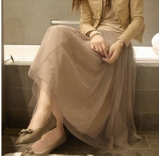 Summer women's bohemia gauze full dress puff skirt pleated skirt fairy skirt high waist lace skirt