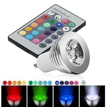 Unique Sale!3W GU10 RGB LED Light bulb with Remote Control with 16 colors changing energy saving RGB LED Lamp(China (Mainland))