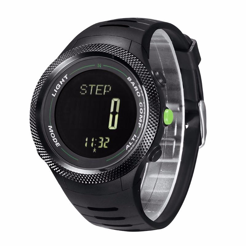 Мужская спорт Цифровые часы часы Бег Плавание часы Высотомер Барометр Компас Термометр Погода Шагомер Наручные Часы
