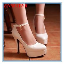 ENMAYER 4 Colors Size 34-43 Sexy High Heels Platform Shoes Pumps Women's Dress Fashion Wedding shoes lady Pump shoes women(China (Mainland))