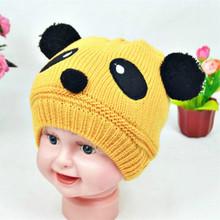 Lovely Animal Panda baby Kids Boy Girl Hats And Caps Crochet Beanie Hats Winter Cap For Children(China (Mainland))