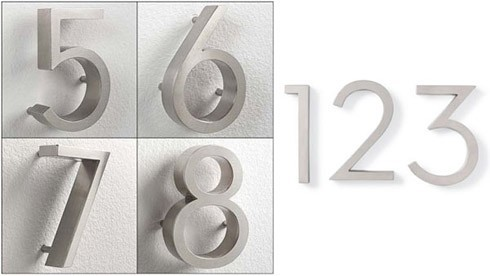 H20cm 3D stainless steel house number house number rvs(China (Mainland))