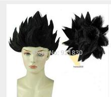 black Cosplay Costume Wig Dragon Ball Z Goku Japan Anime Wig cosplay animation ladies Medium Hairnet Synthetic fibre hair wigs
