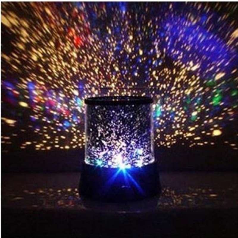 Flashing Colorful Sky Star Master Night Light Lovely Sky Starry Star Projector Holiday LED light Lamp(China (Mainland))