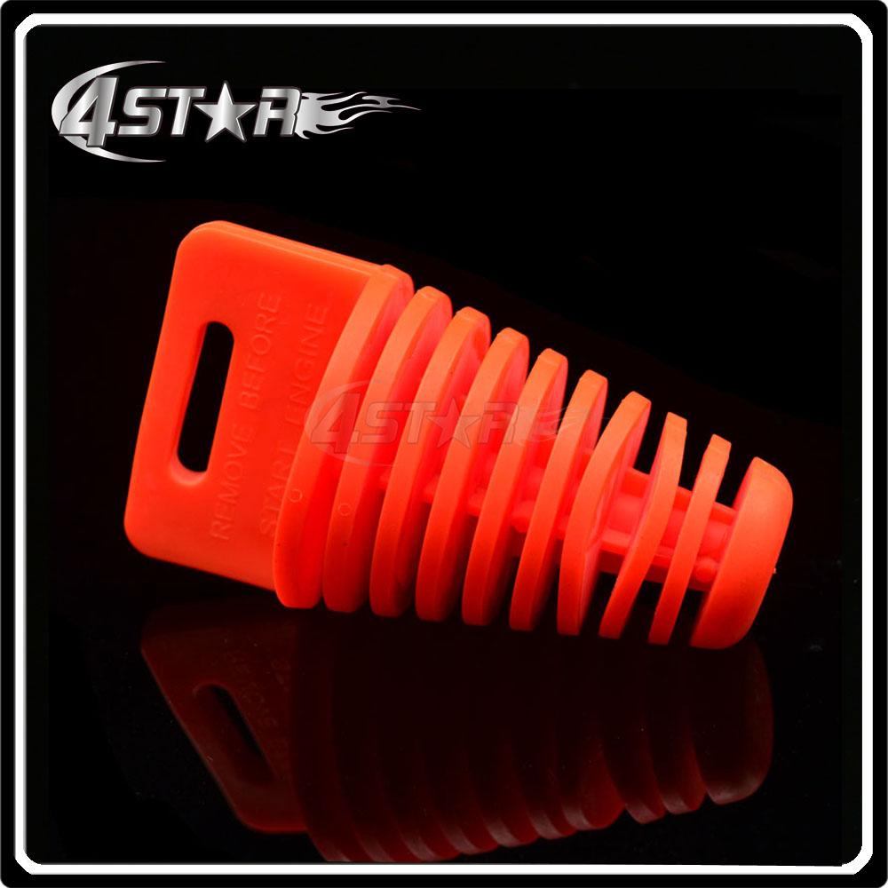 Orange Exhaust Pipe Muffler Wash Plug Waterproof Plug Fit Motocross Scooter Motorcycle Pit Dirt Bike Enduro ATV CR KX RM YZ KM(China (Mainland))