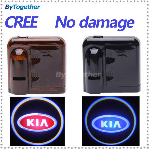 Беспроводной проводной из светодиодов логотип проектор двери добро пожаловать свет для Kia Cadenza форте Optima Rio душа Sorento Sportage Ceed Picanto Quoris