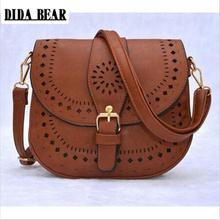Buy DIDA BEAR women messenger bags PU hollow crossbody bags ladies shoulder purse handbags bolsas feminina Black Brown for $13.92 in AliExpress store