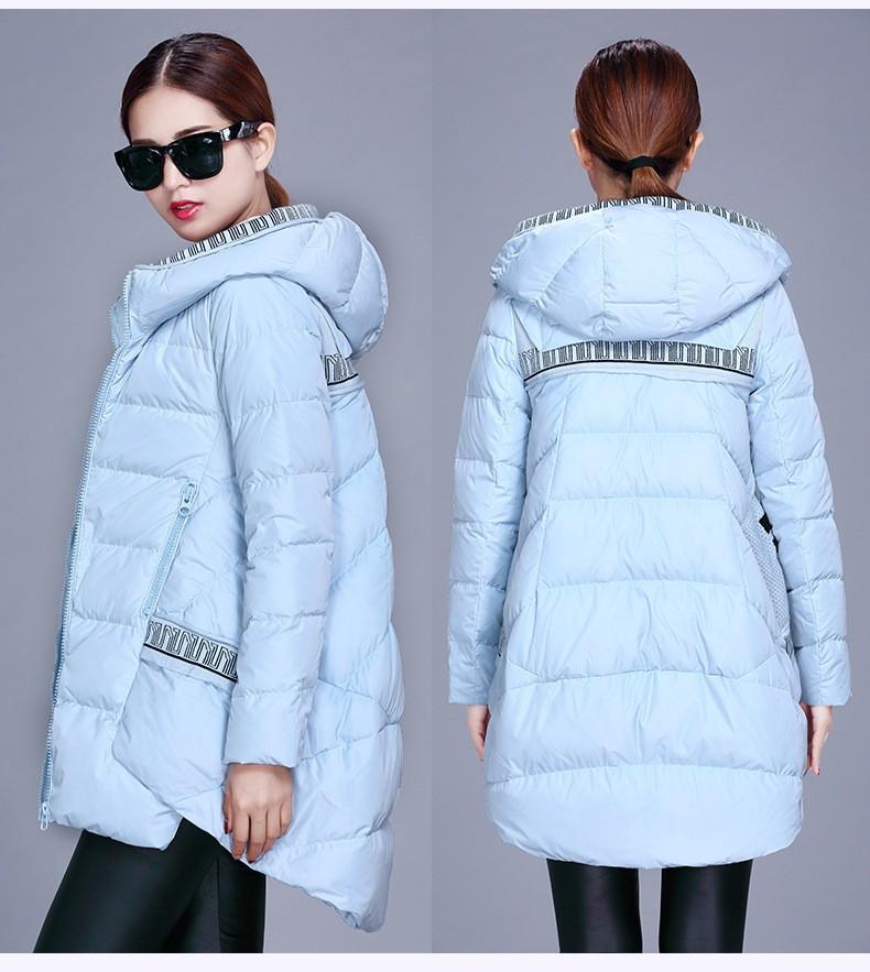 2015 New! Fashion Long Duck Down Parka fur coat Winter jacket women thick Warm Down jacket Women Plus SizeM-3XL manteau femme