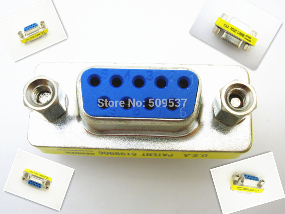 RS232 Gender Changer DB9 9pin Female to Female VGA Gender Changer Adapter F-F(China (Mainland))