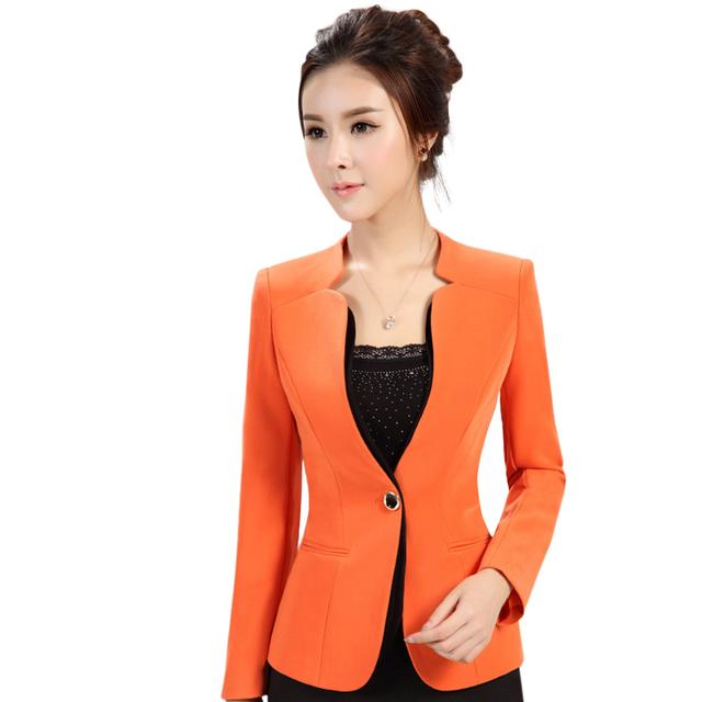 2015 осень зима женская с длинными рукавами пиджак Большой размер пр офис формальная ...