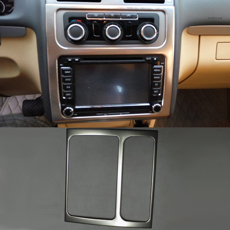 Car Styling Navigation Panel Sequins Interior dashboard decorative frame Cover For VW Touran 2013-2016 Modification Part