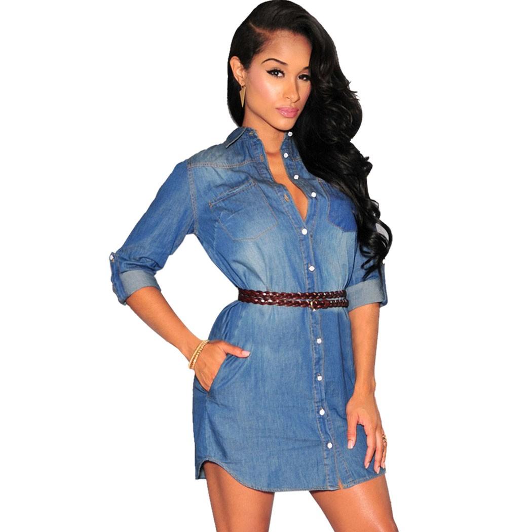 Popular Blue Jean Plus Size Dress-Buy Cheap Blue Jean Plus Size ...