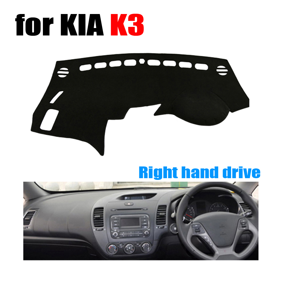 Car dashboard cover mat for KIA K3 all the years Right hand drive dashmat pad dash covers auto dashboard accessories(China (Mainland))