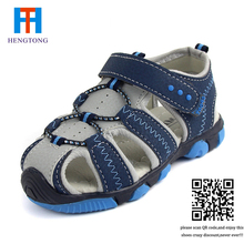 New style 2016 boys antislip sole sandals summer cut-out comfortable flats leather sandals kids children breathable beach shoes(China (Mainland))